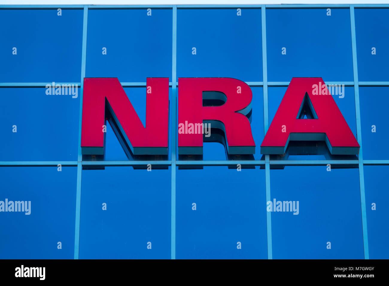 La sede de la Asociación Nacional del Rifle NRA en Fairfax, Virginia va gun derechos grupo de cabildeo en EE.UU. Imagen De Stock