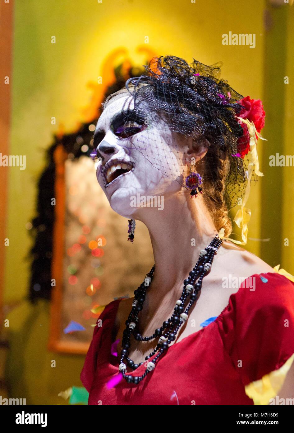 Señora De Los Muertos La Calavera Catrina Vestido Para El