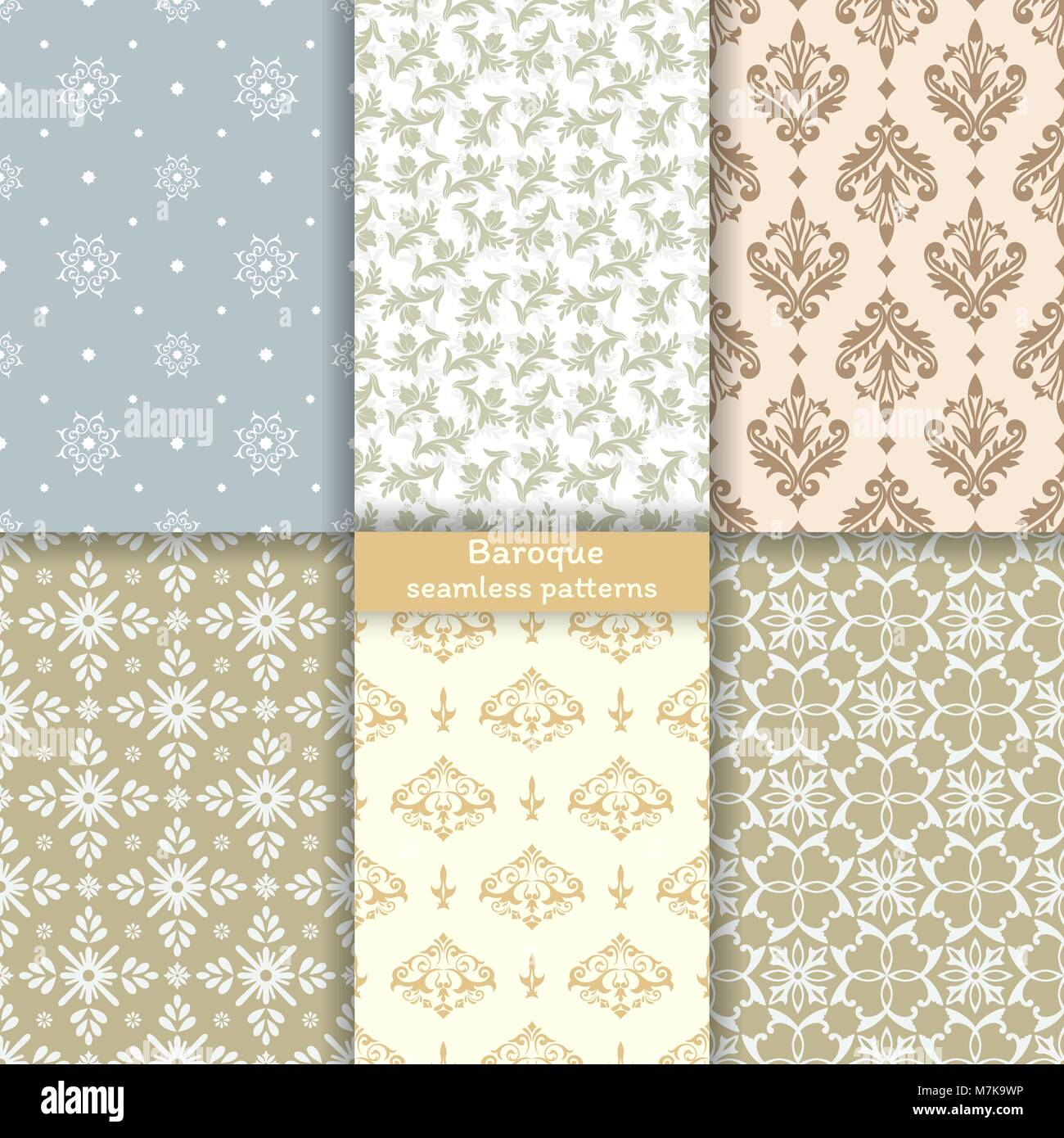 Seamless Baroque Patterns Imágenes De Stock & Seamless Baroque ...