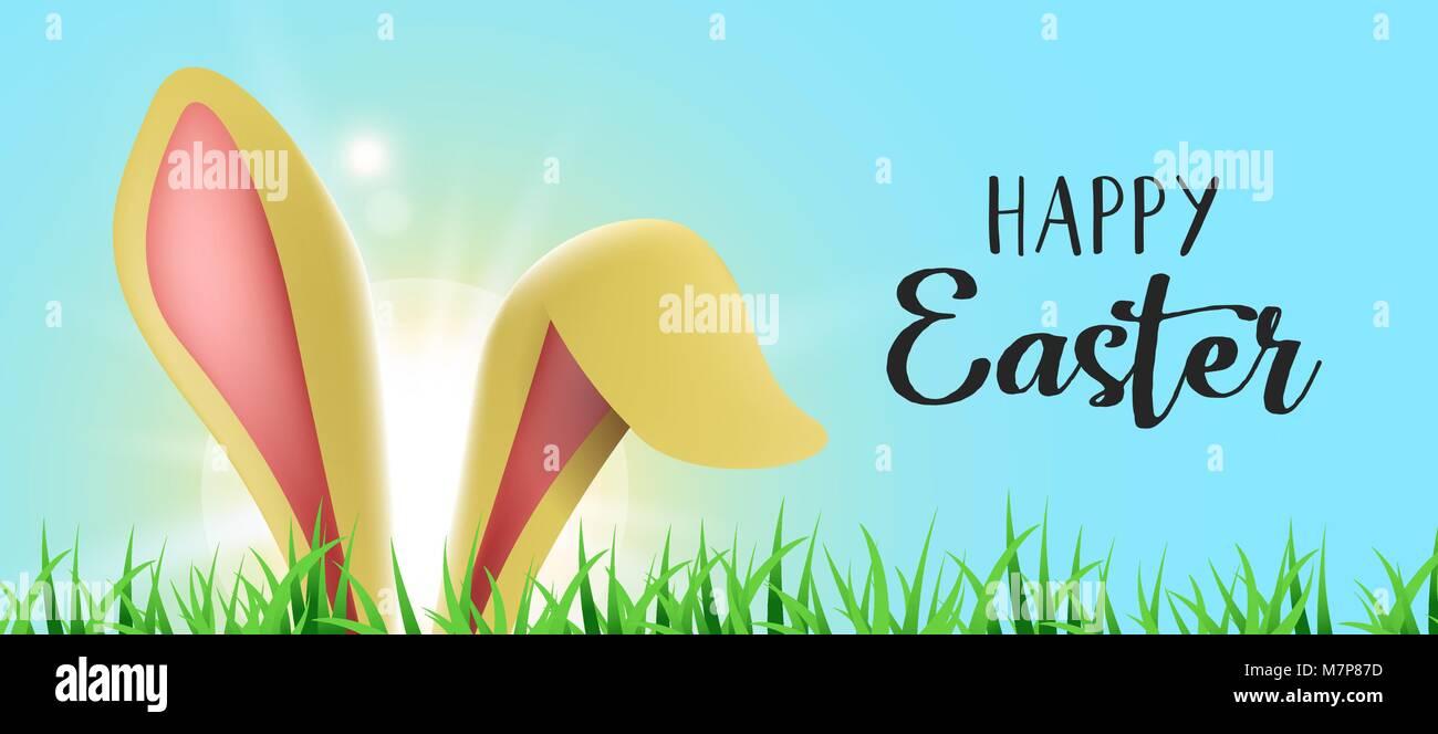 Conejito de Pascua vacaciones ilustración, orejas de conejo ...