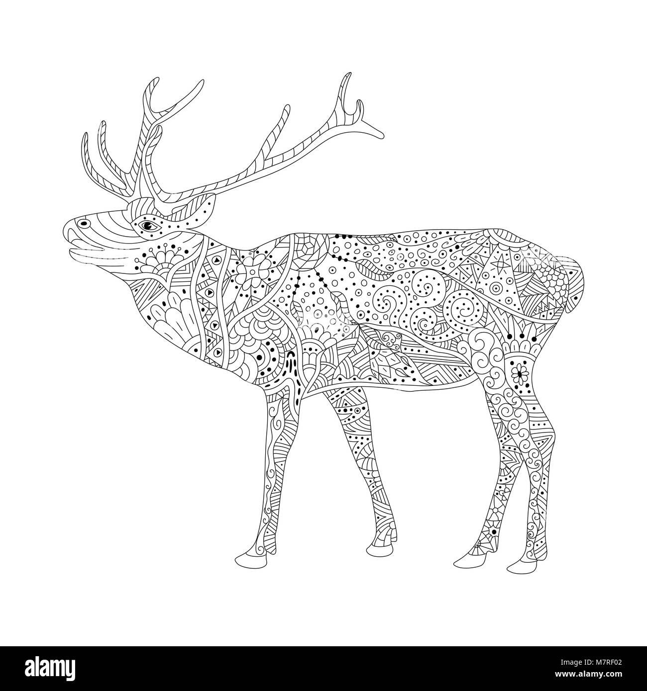 Lujoso Ciervos Para Colorear Páginas Para Imprimir Ornamento - Ideas ...