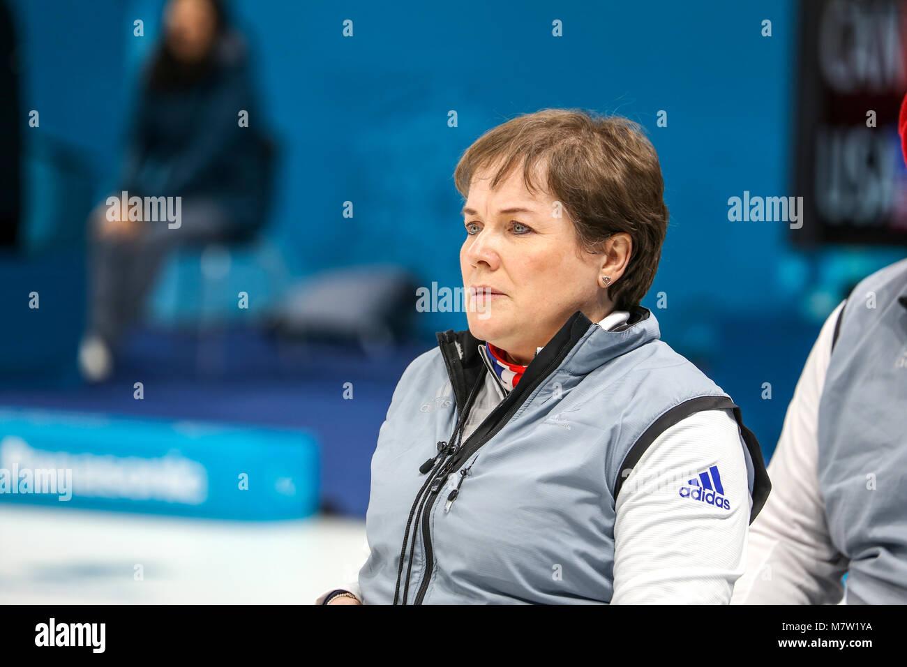 Pyeongchang, Corea del Sur. 13 de marzo de 2018. Curling competencia ...