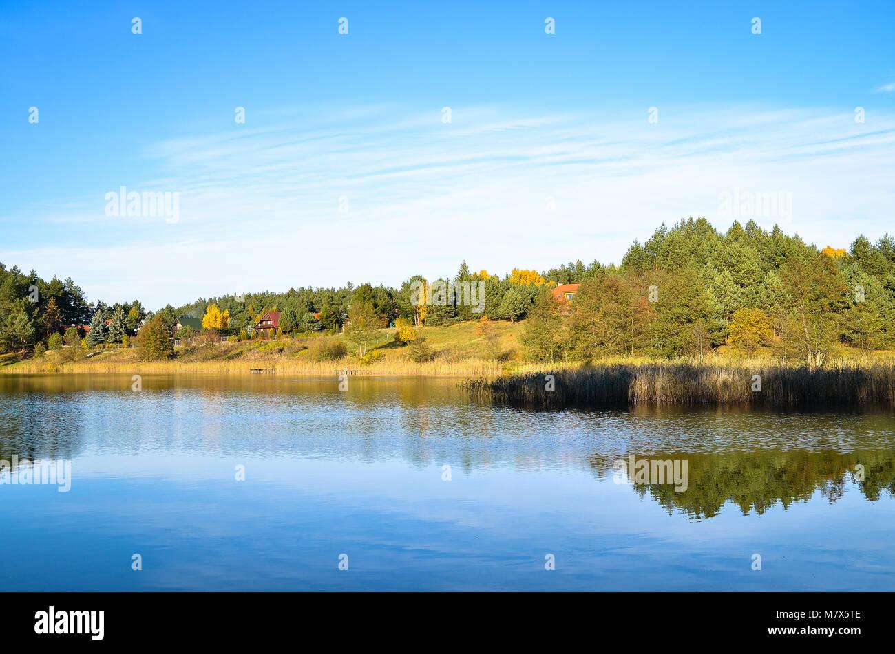 Lago Guzowy Piec Polonia Foto de stock