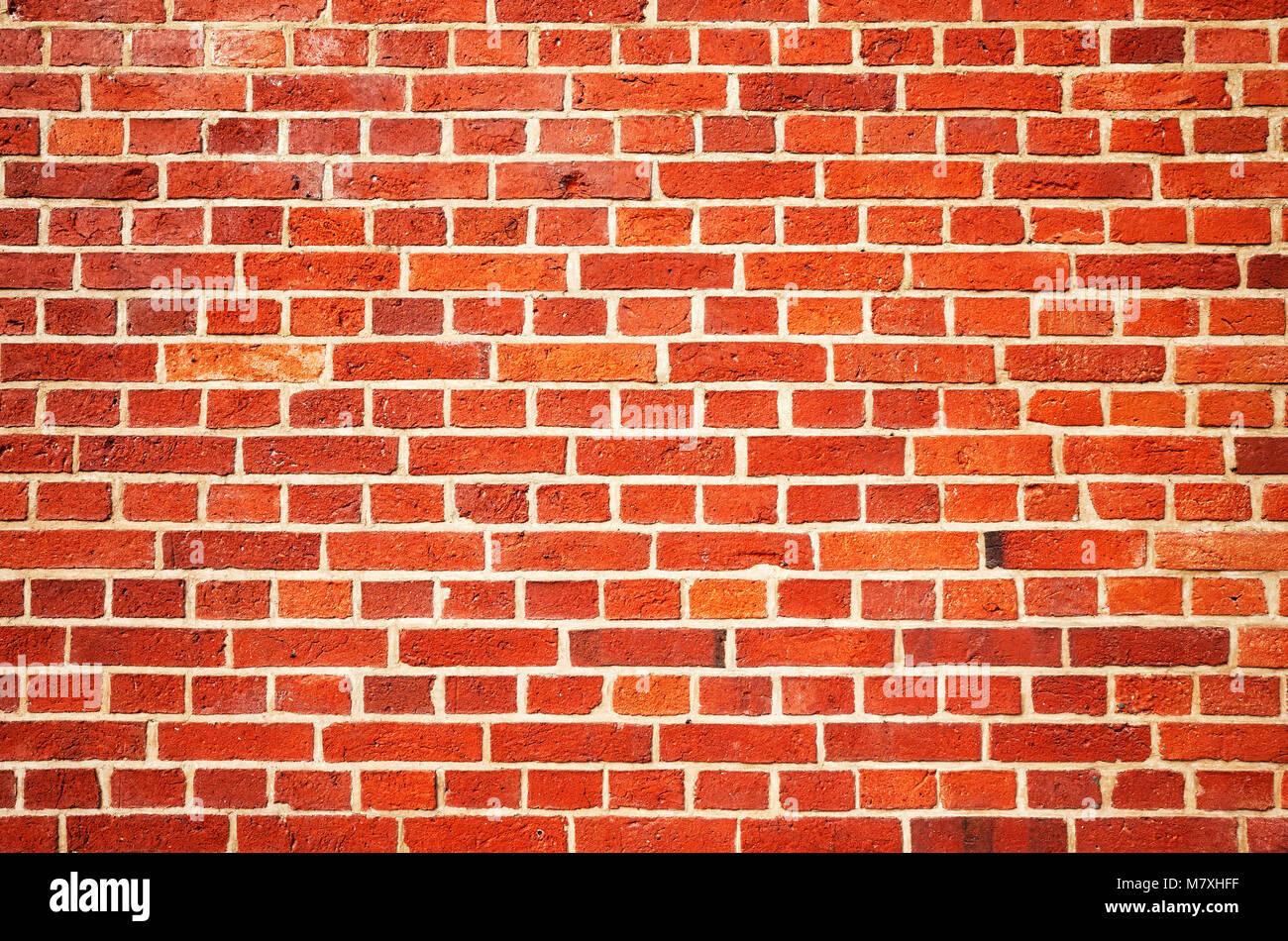 Viejo Muro De Ladrillo Rojo O El Papel Tapiz De Fondo Foto