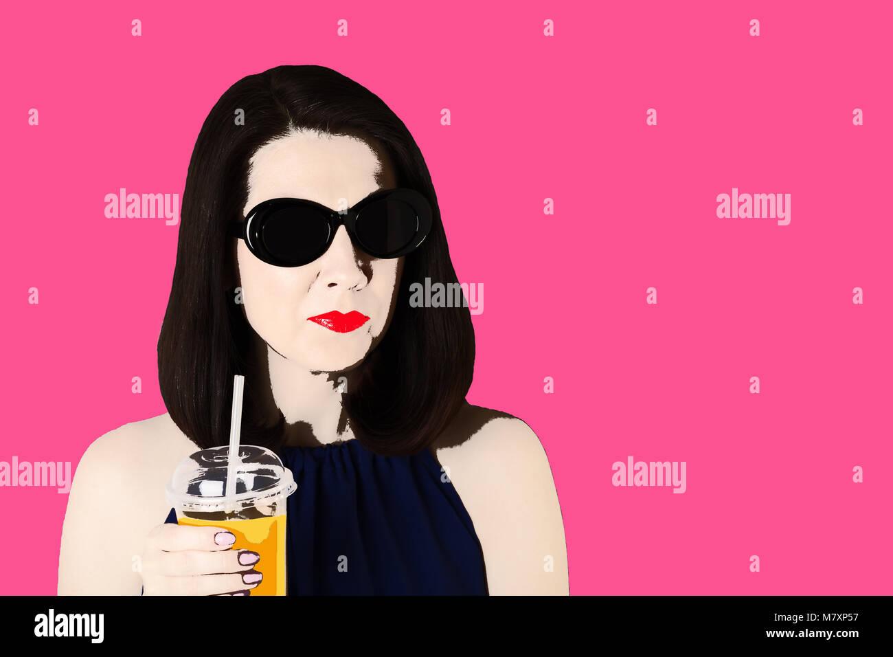 Pop Art Girl Imágenes De Stock & Pop Art Girl Fotos De Stock - Alamy