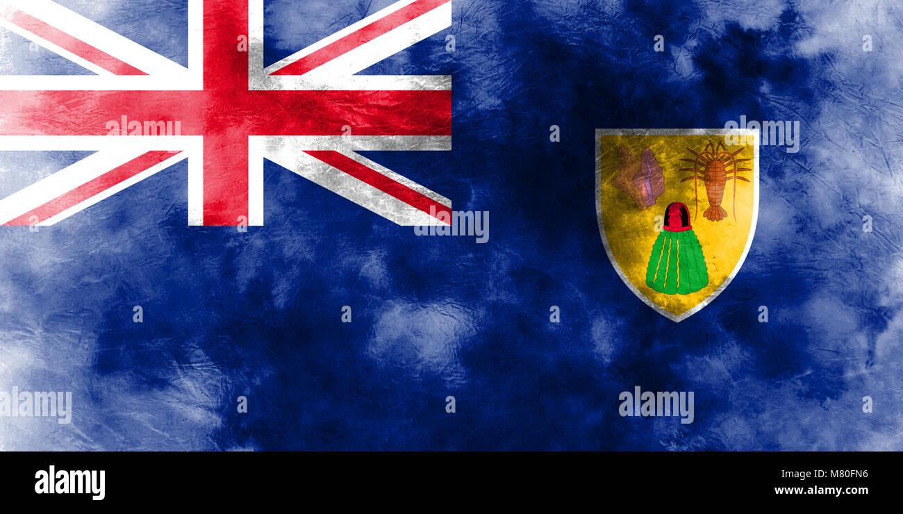 Islas Turcas Y Caicos Grunge Bandera Los Territorios Britanicos