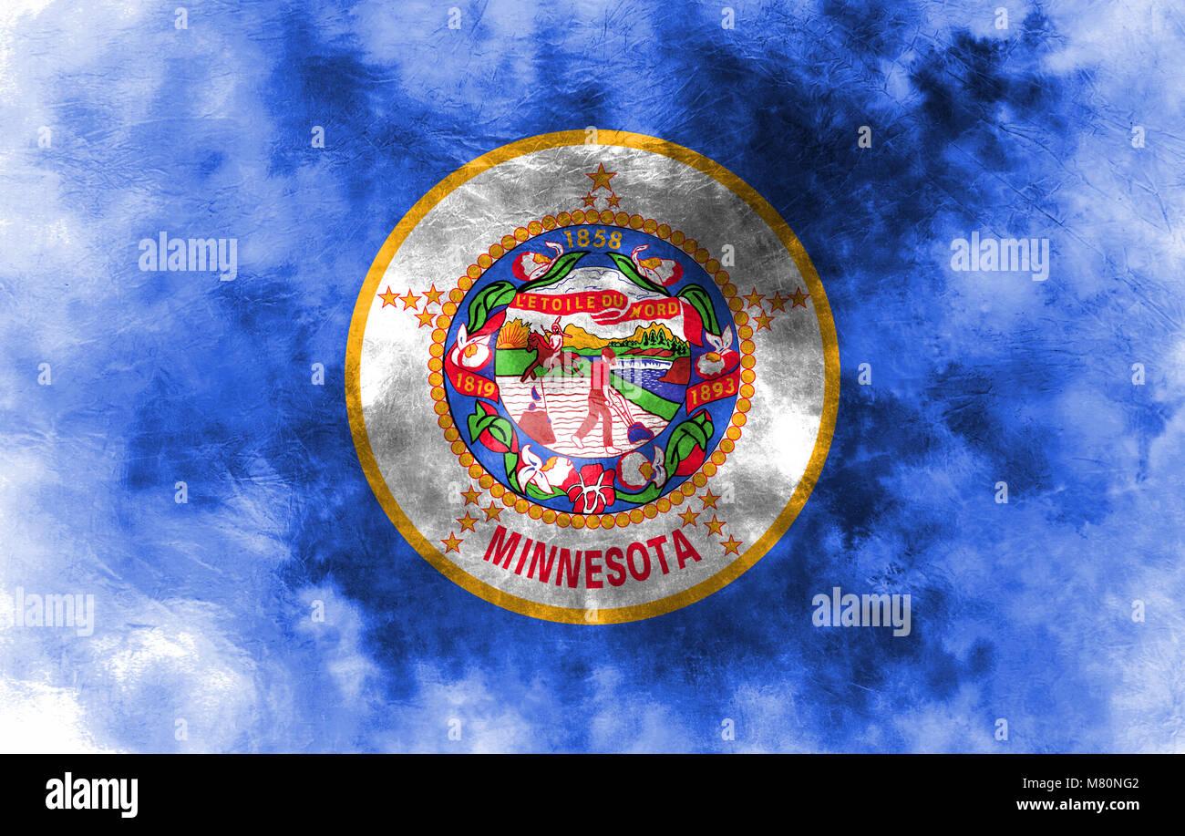 Excepcional La Bandera De Estado De Minnesota Para Colorear Cresta ...