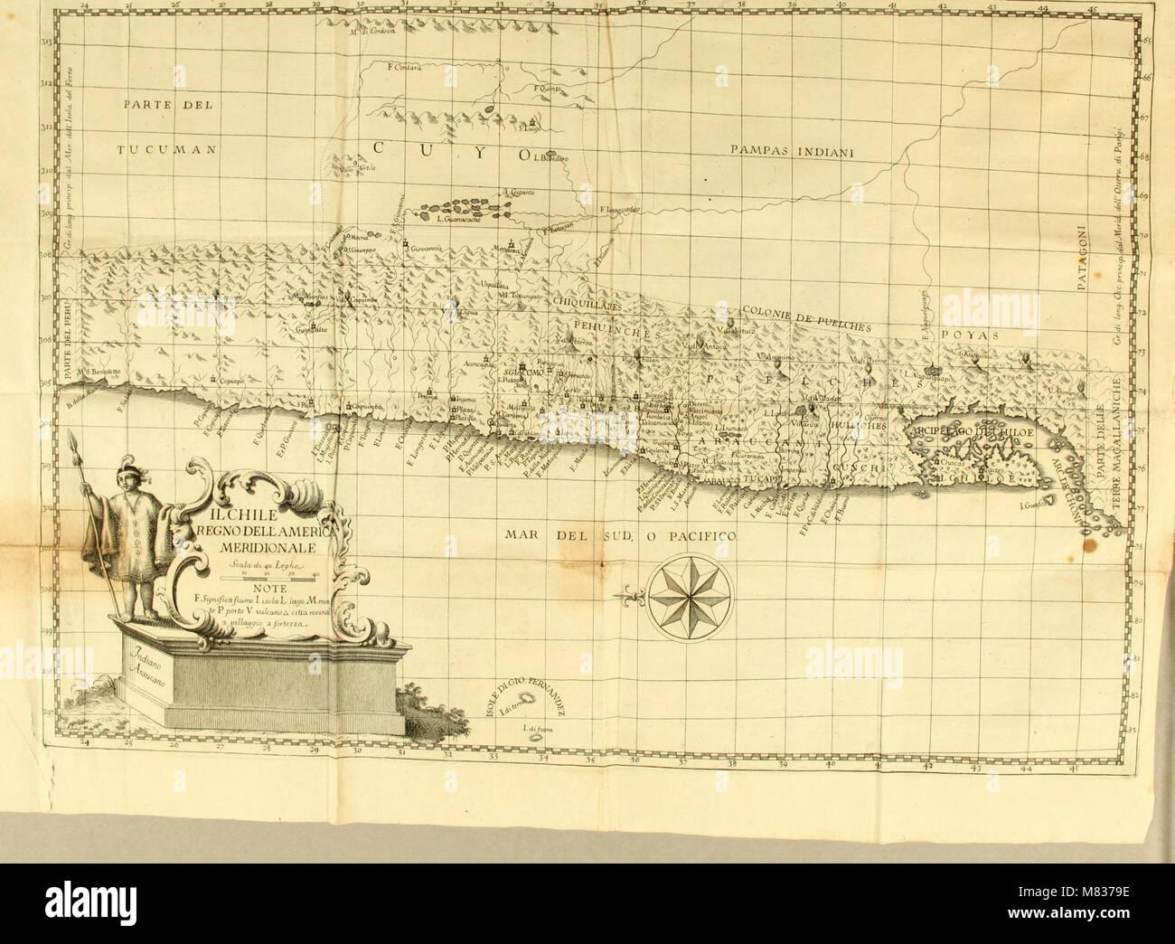 Compendio della storia geografica, naturale e civile del regno del Chile (1776) (20050028663) Foto de stock