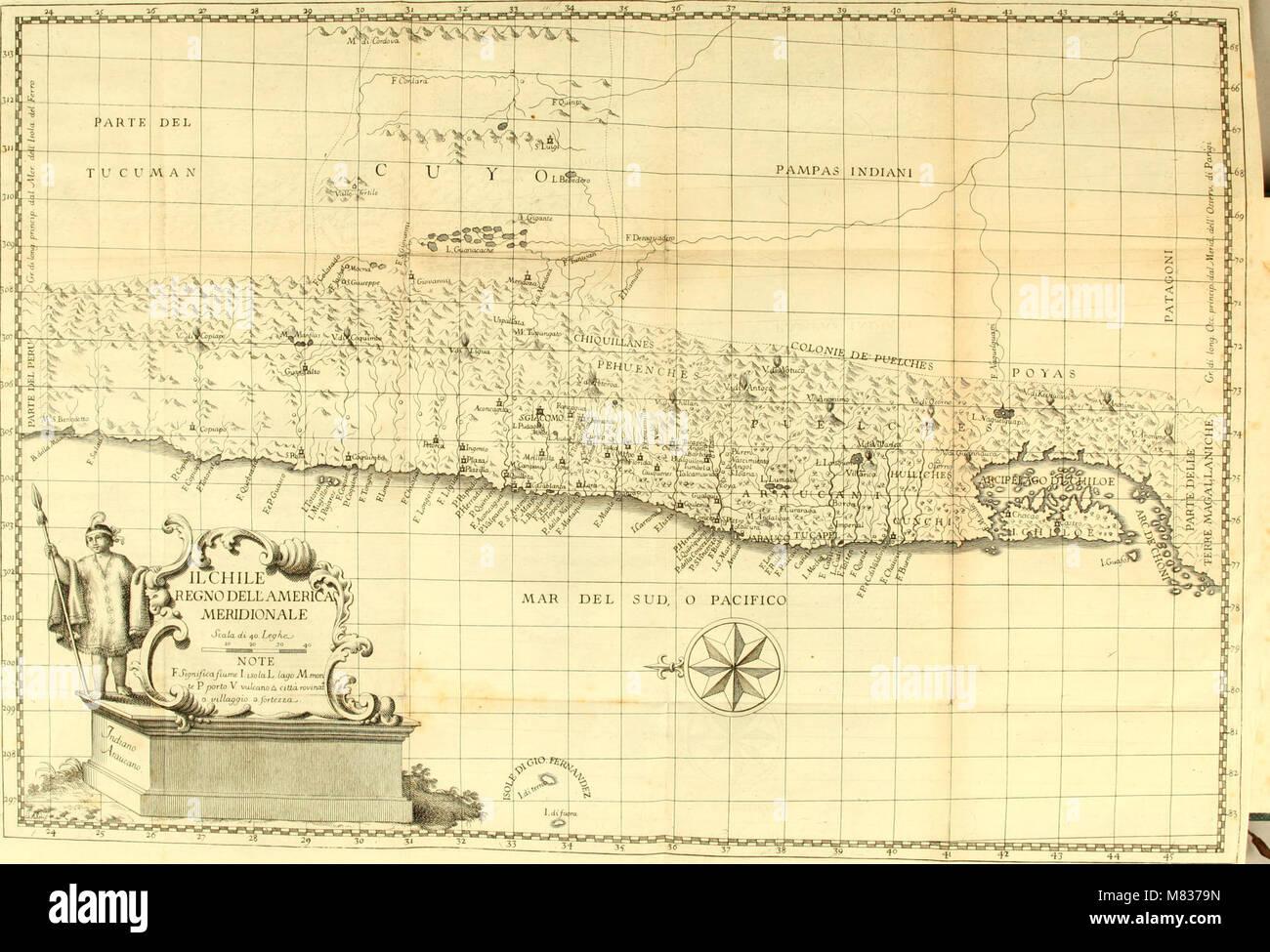 Compendio della storia geografica, naturale e civile del regno del Chile (1776) (20644608316) Foto de stock