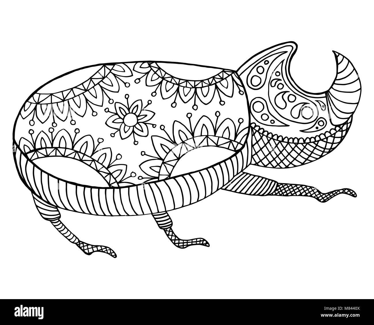 Fantástico Escarabajo Para Colorear Festooning - Ideas Para Colorear ...