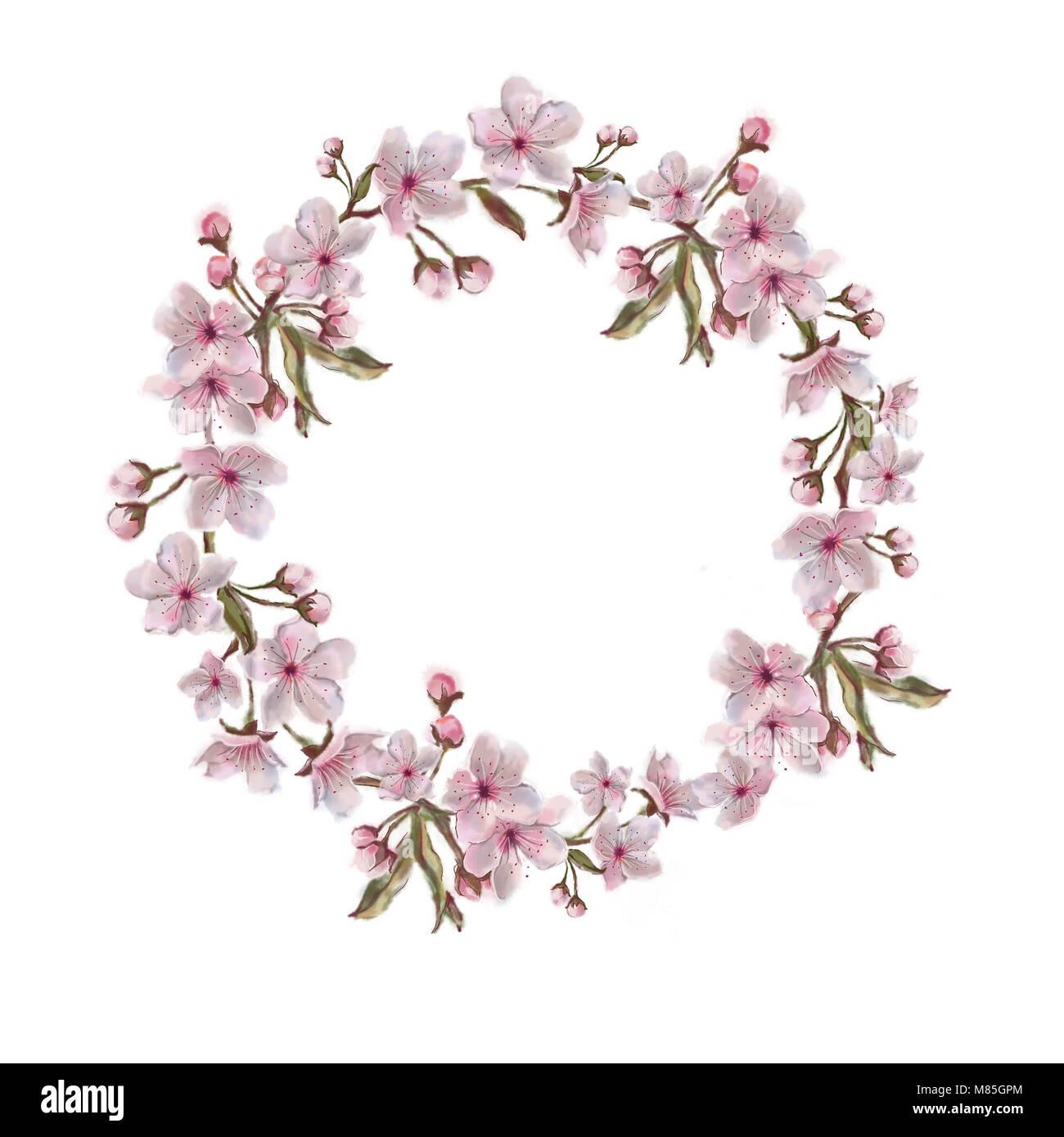 Ofrenda Floral Aislado Sobre Fondo Blanco Flores De Primavera En