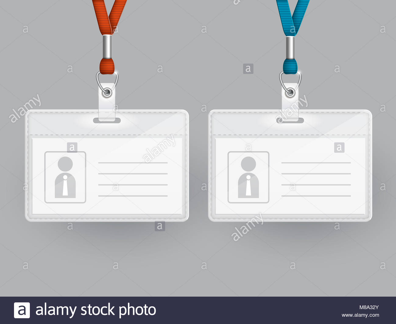 Definir la plantilla de tarjetas de identificación en blanco sobre ...