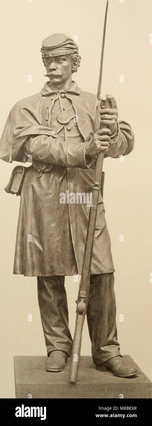La dedicación del monumento en el parque Boston Common erigido a la memoria de los hombres de Boston que murieron en la Guerra Civil (1877) (14759563211) Foto de stock