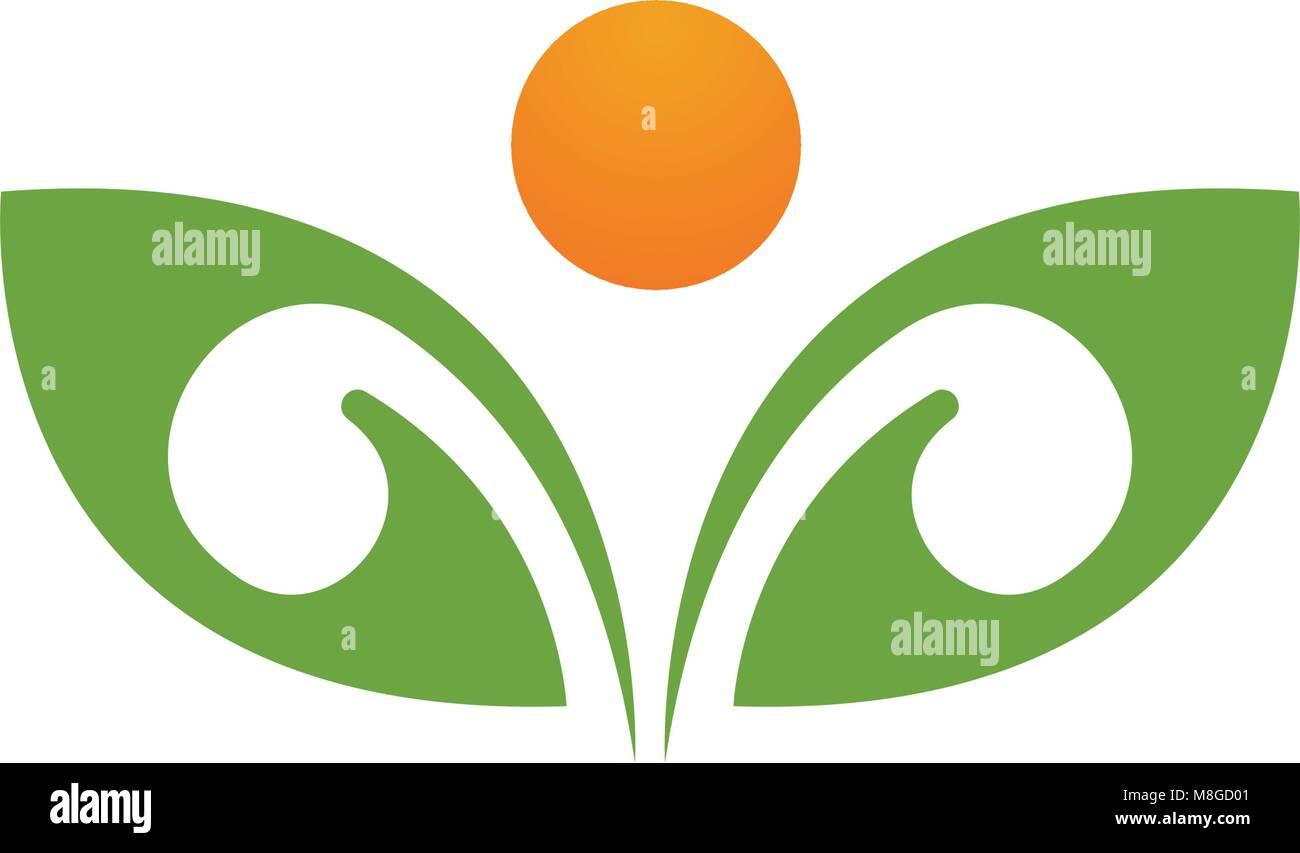 Tarjeta de identidad de la gente de color verde árbol vector logo ...
