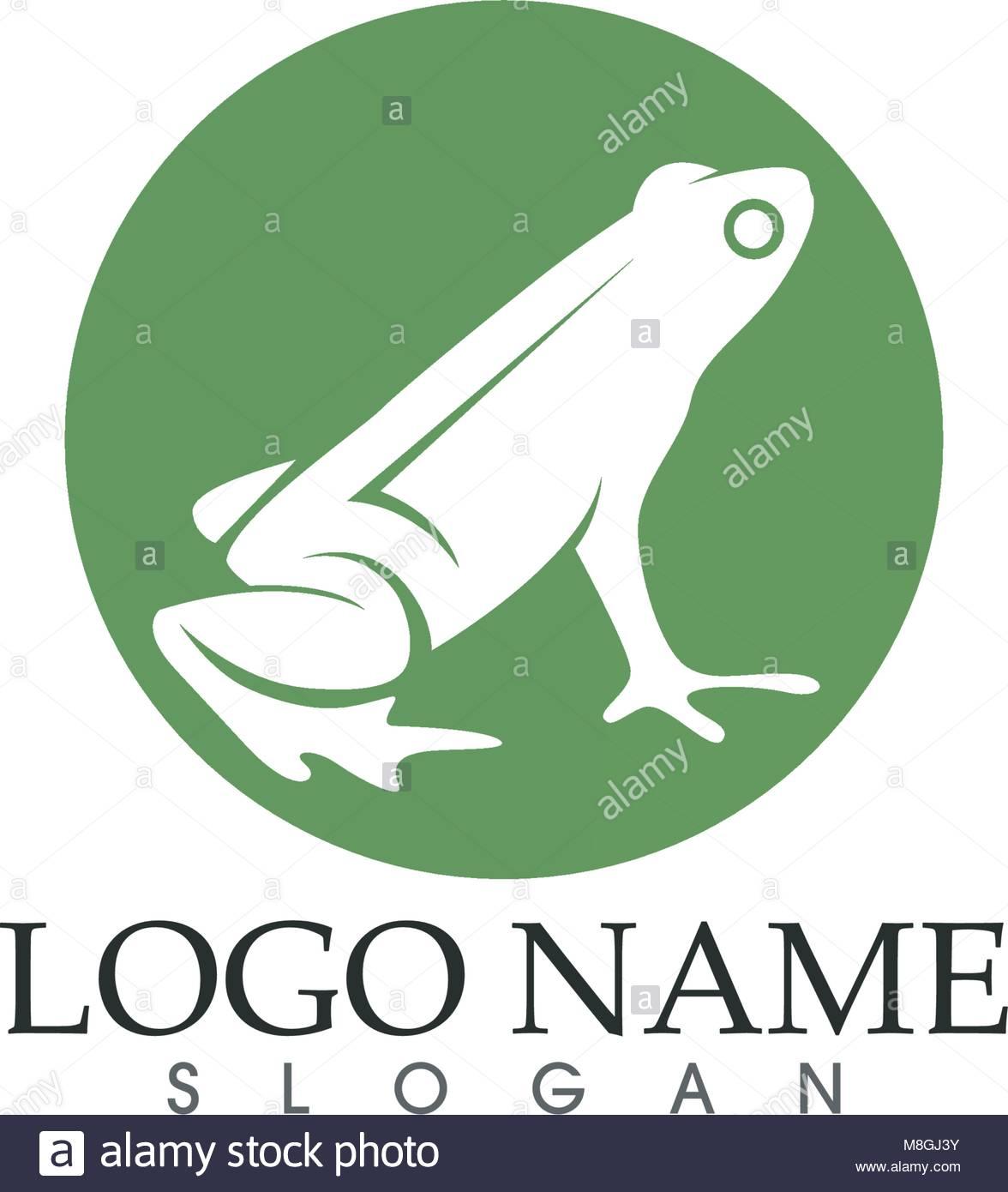 Rana Verde símbolos logo y plantillas de iconos app Ilustración del ...