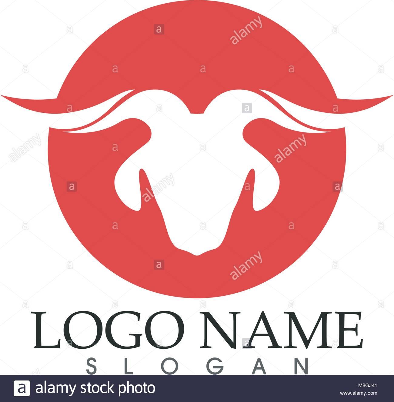 Cuerno de cabra logotipo plantillas de iconos y símbolos app ...