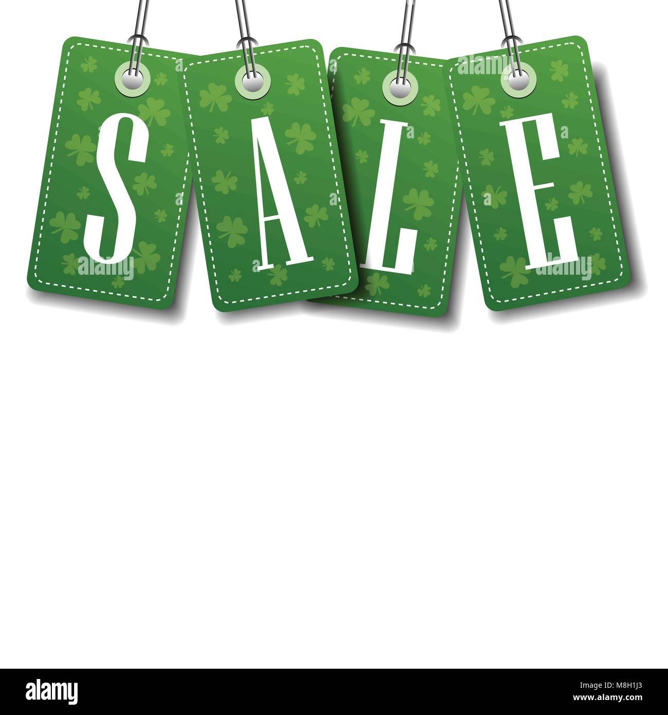 St Patrick Day Sale Banner Imágenes De Stock & St Patrick Day Sale ...