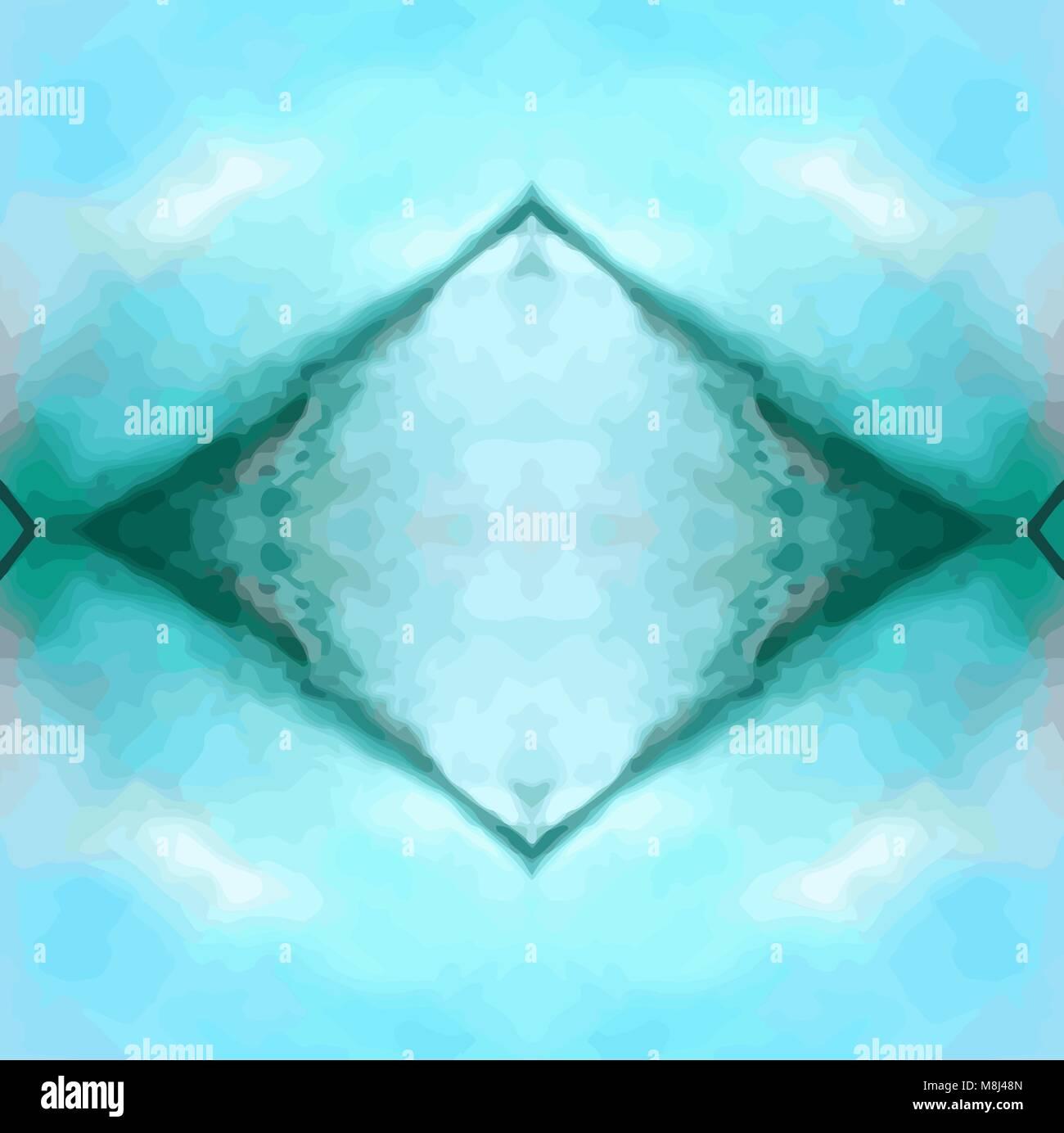 Azul Verde Paisaje Abstracto Wallpaper Ilustración Del Vector