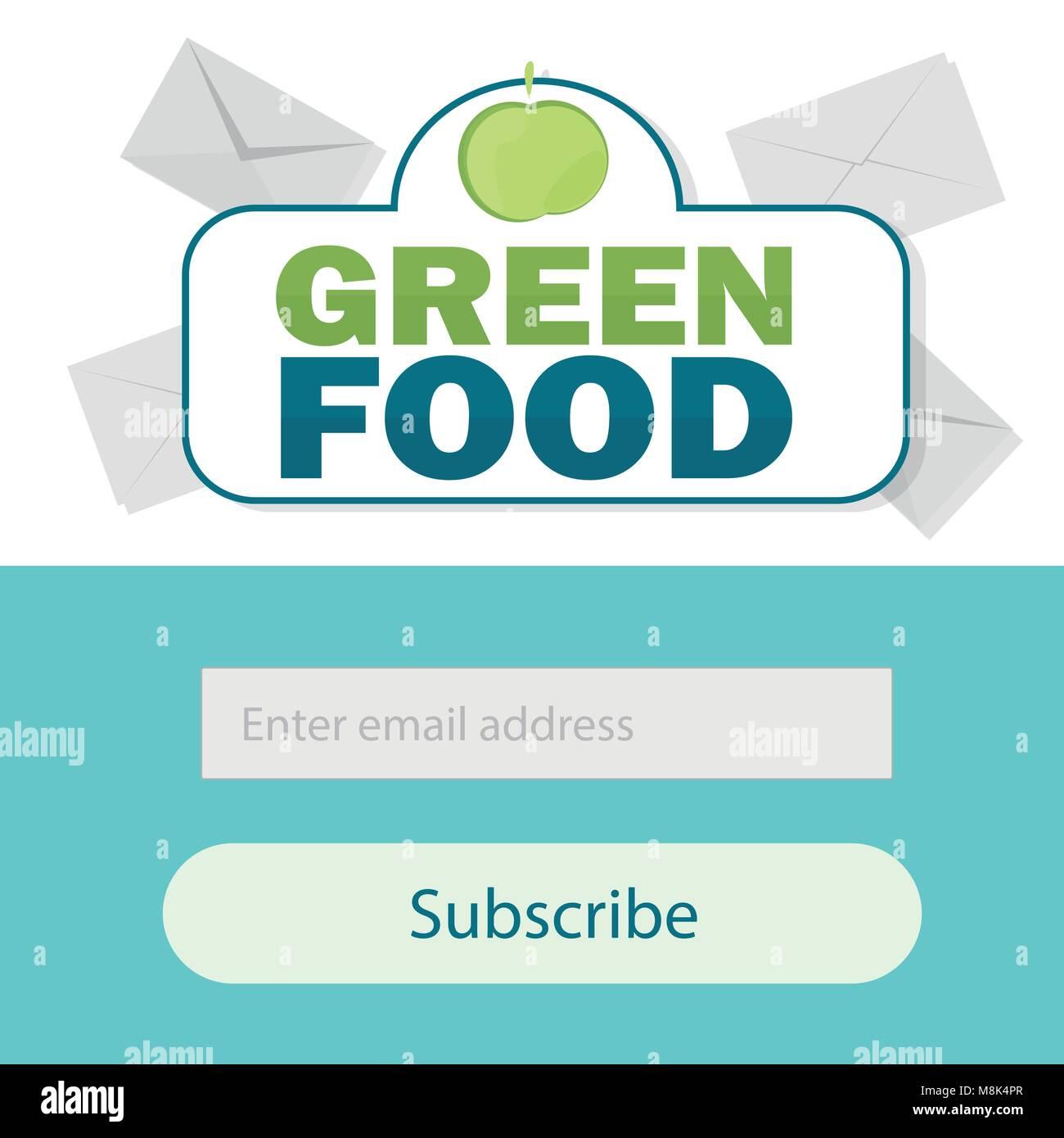 Plantilla vectorial email suscribirse. Enviar el formulario por correo electrónico web banner Imagen De Stock