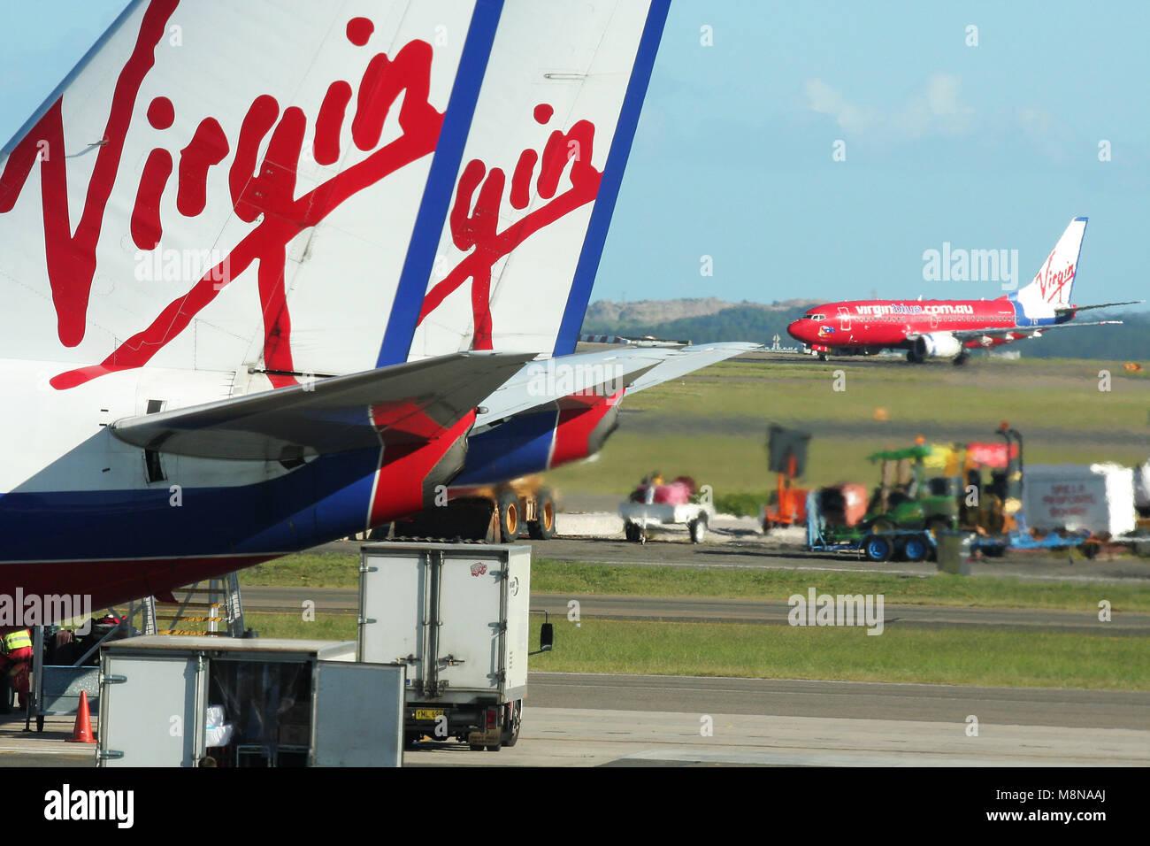 Virgen de aviones, el aeropuerto de Sydney, New South Wales, Australia Imagen De Stock