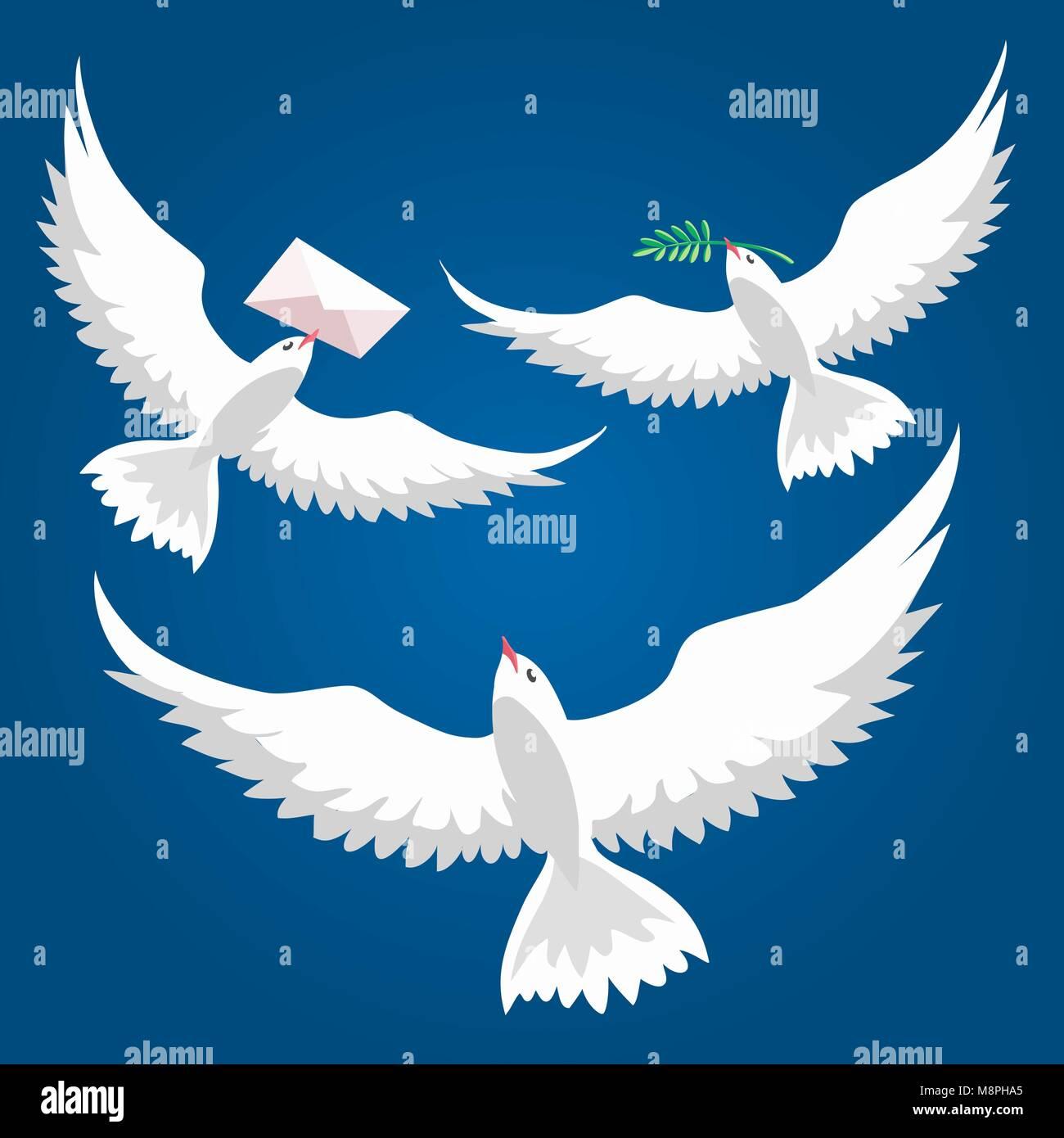 Flying Dove Paloma De La Paz Volando Con La Rama De Olivo Y La