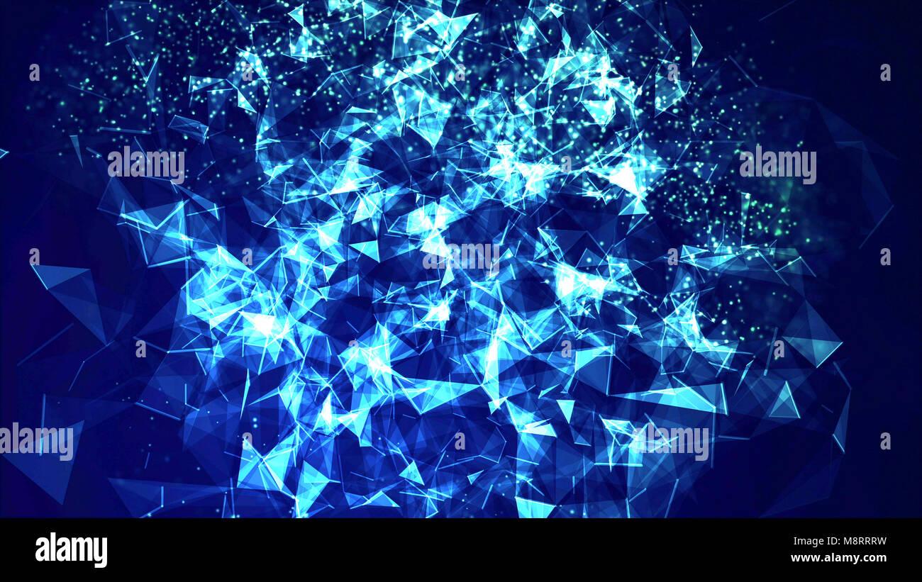 Cierre de fondos abstractos azul Imagen De Stock