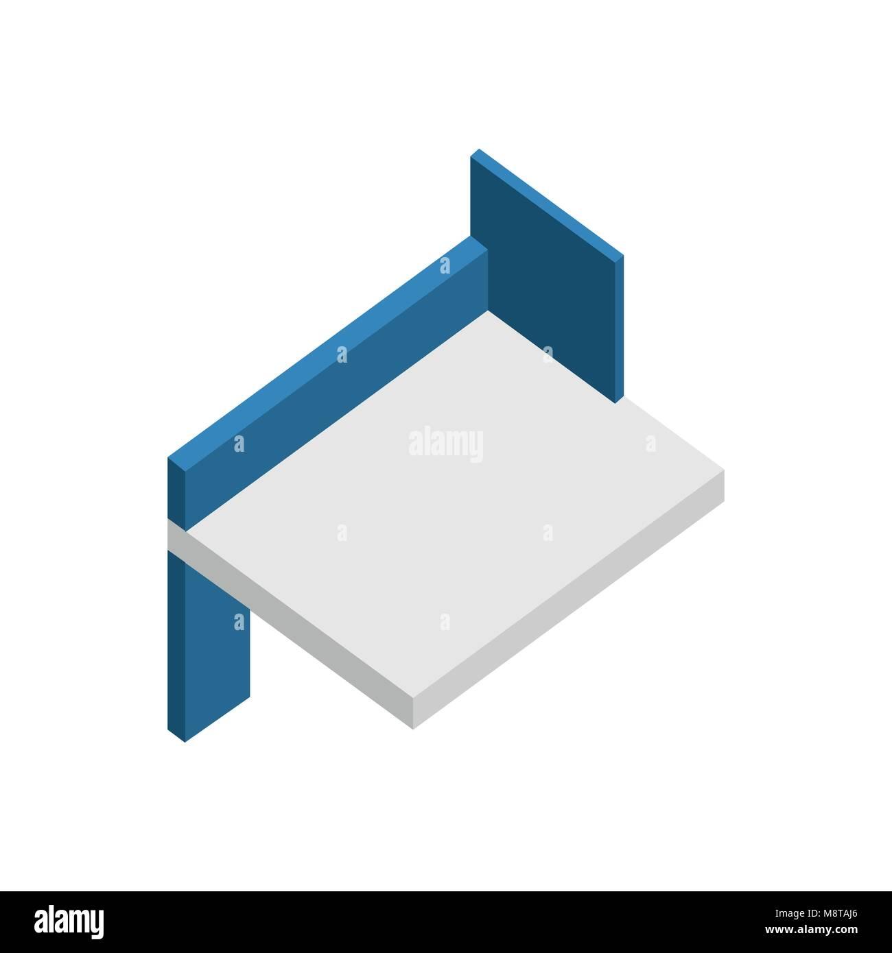 Estante flotante 3D isométrica Muebles de Cocina ilustración ...