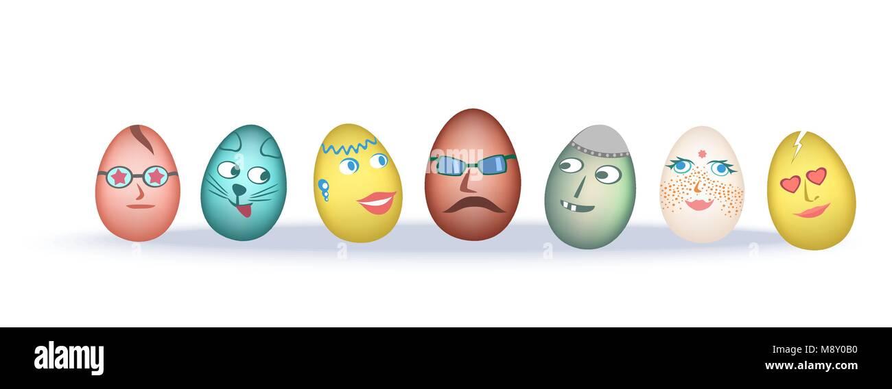 Huevos De Pascua Chistes Ilustración Del Vector Imagen 177613940