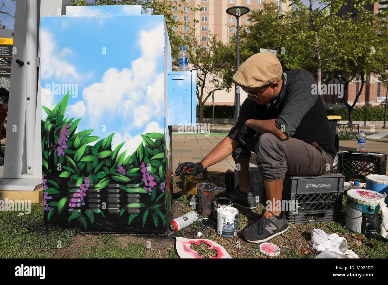 Houston Ee Uu 21 Mar 2018 Houston Artista Glson Lemus Pinturas