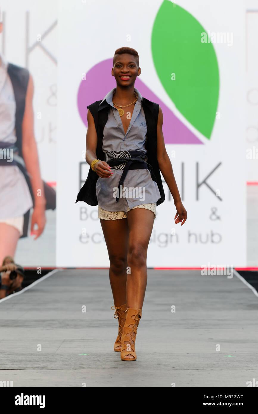 Quebec, Canadá.Boutique Ethik Fashion Show en Montreal Imagen De Stock