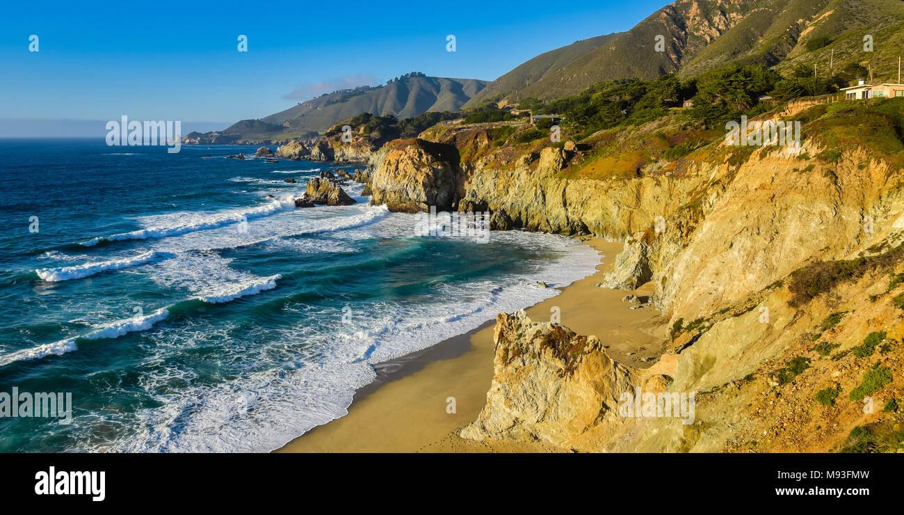 Hermosa costa de California - Big Sur, el Condado de Monterey Imagen De Stock