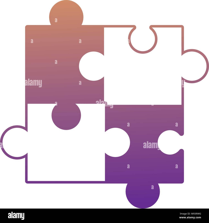 Jigsaw Puzzle Pieces Background Vector Imágenes De Stock & Jigsaw ...