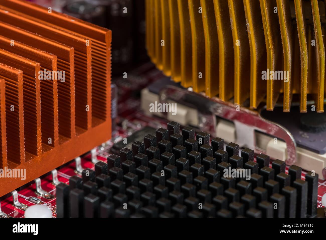 Circuito Ventilador : Detalles de una vieja placa de circuito elementos de