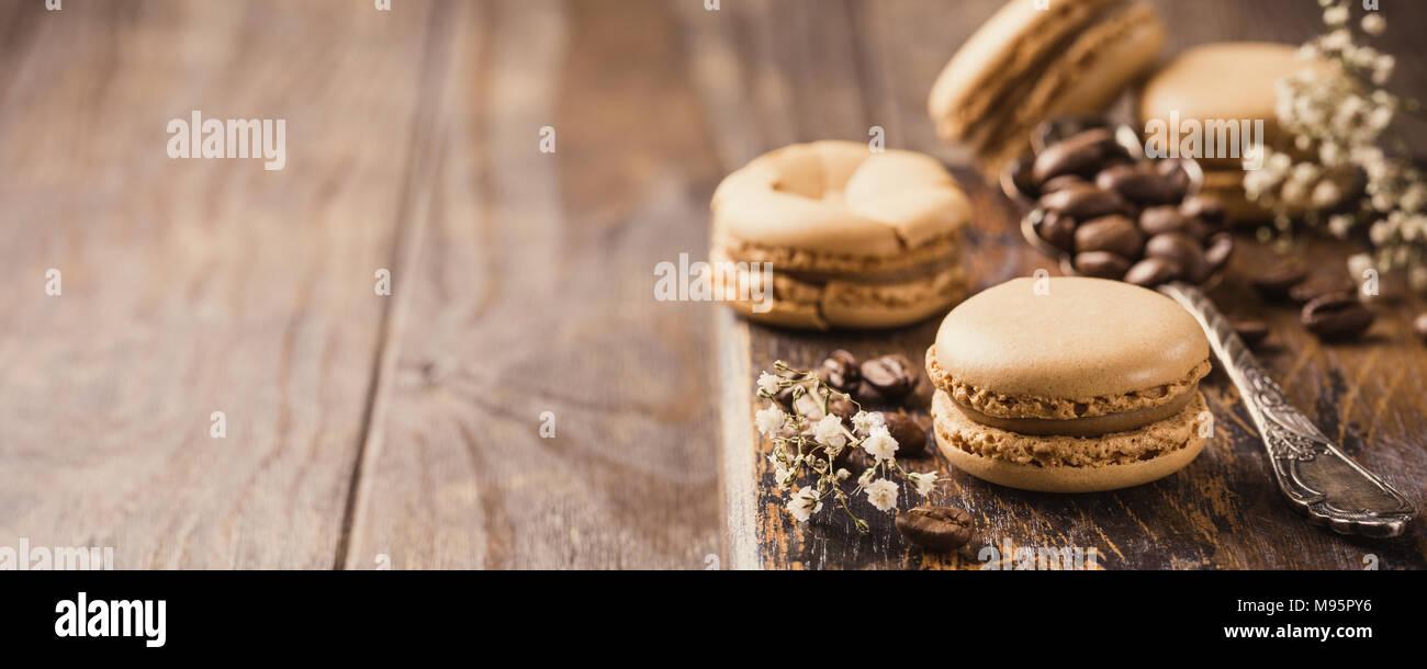 Macarons de café francés Imagen De Stock