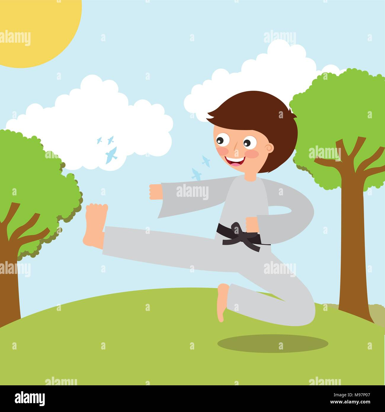 Los niños actividad deportiva Imagen De Stock