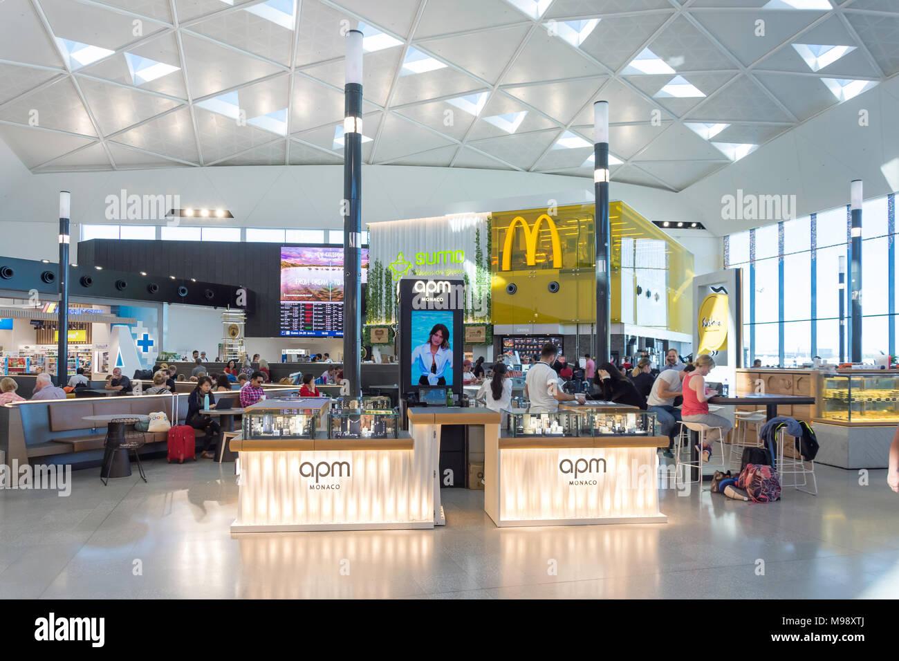 Sala de Embarque en el aeropuerto Kingsford Smith de Sydney, la Mascota, Sydney, New South Wales, Australia Imagen De Stock