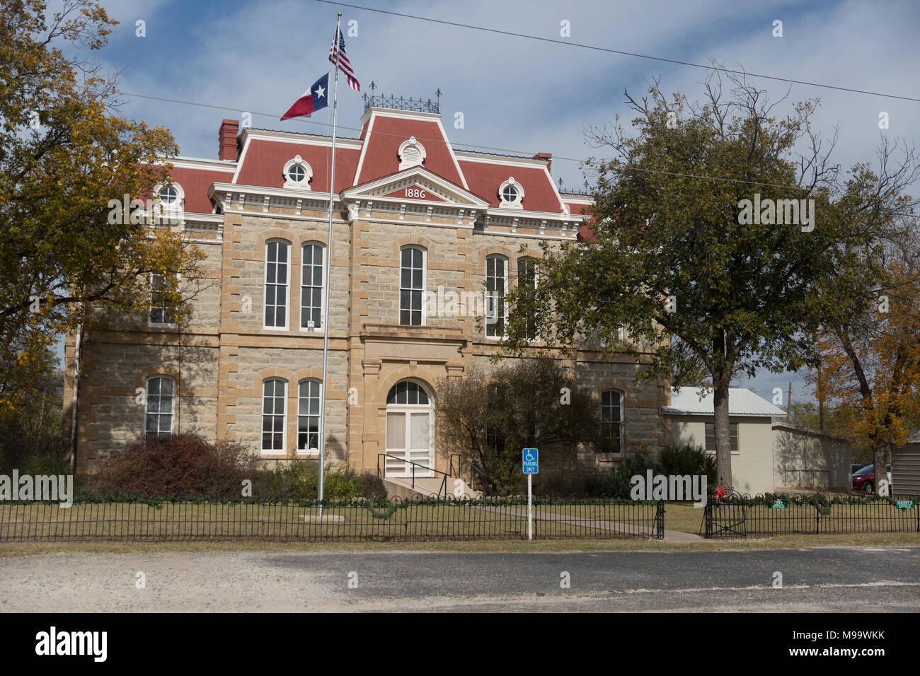 Concho histórico County Courthouse en Paint Rock, Texas Imagen De Stock