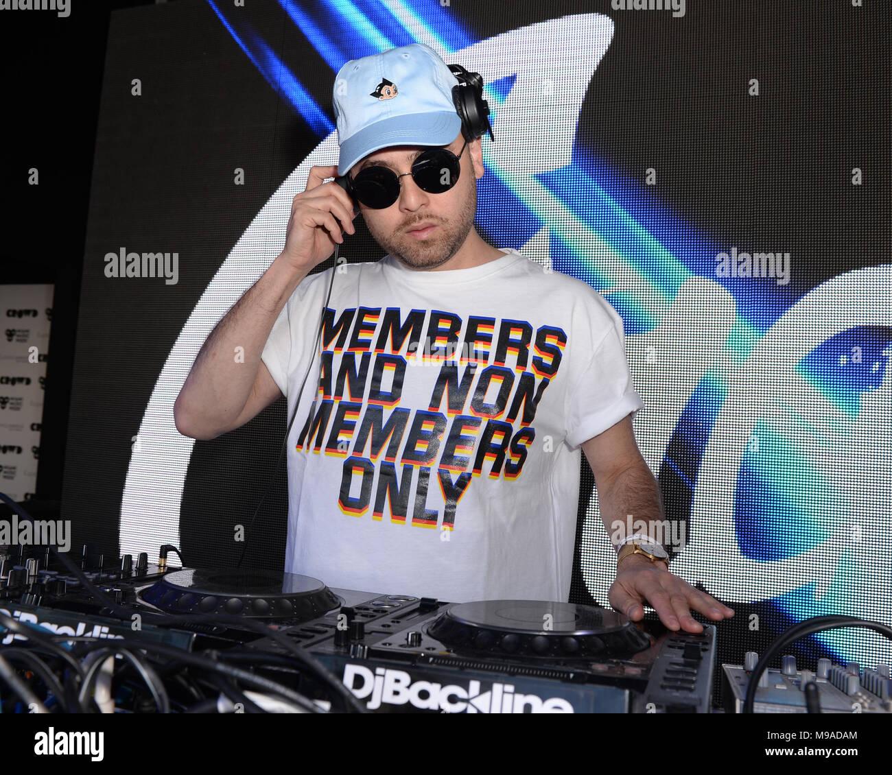 Miami Beach, FL, EEUU. 23 Mar, 2018. Grandtheft realiza durante el fin de semana música Miami Hits 97.3 Hotel en el Clevelander Hotel el 23 de marzo de 2018, en Miami Beach, Florida. Crédito: Mpi04/Media Punch/Alamy Live News Foto de stock