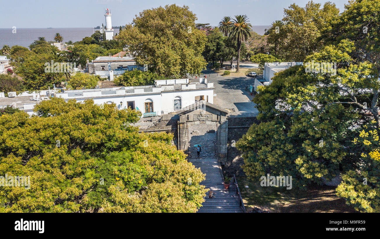 La histórica Colonia del Sacramento, Uruguay Imagen De Stock