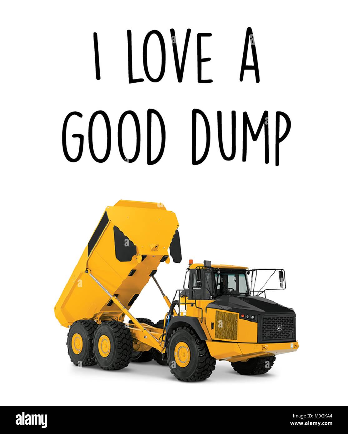 Me encanta un buen dump Imagen De Stock