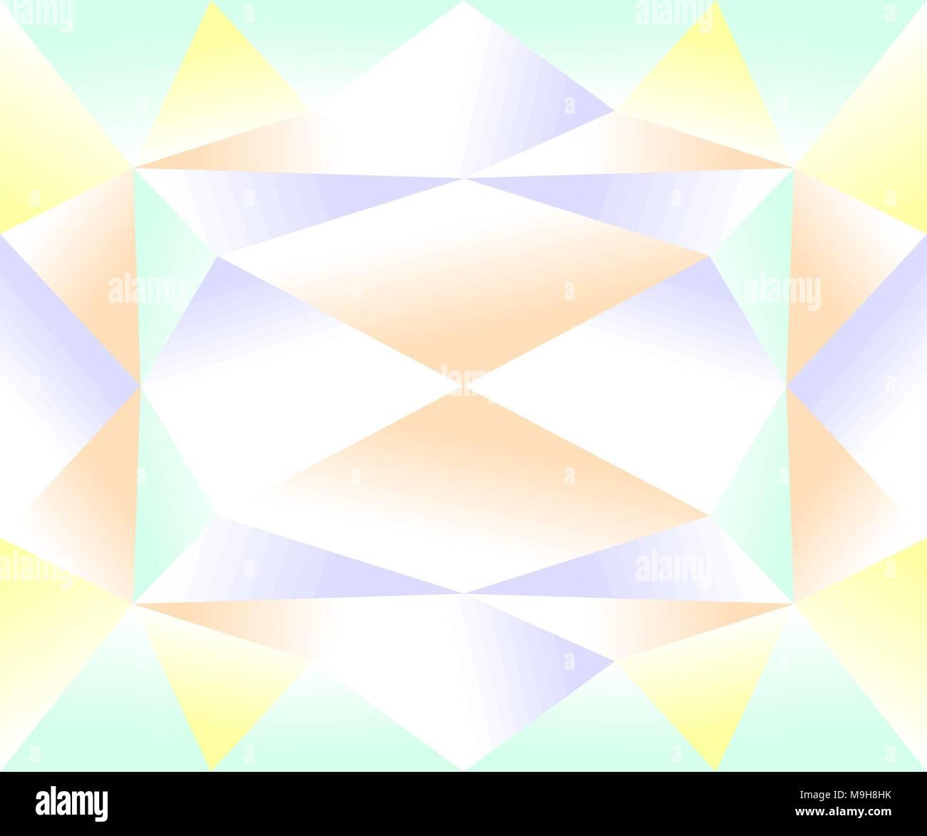 Seamless colorido patrón geométrico del degradado azul, verde, amarillo y marrón. Ilustración vectorial EPS10. Imagen De Stock