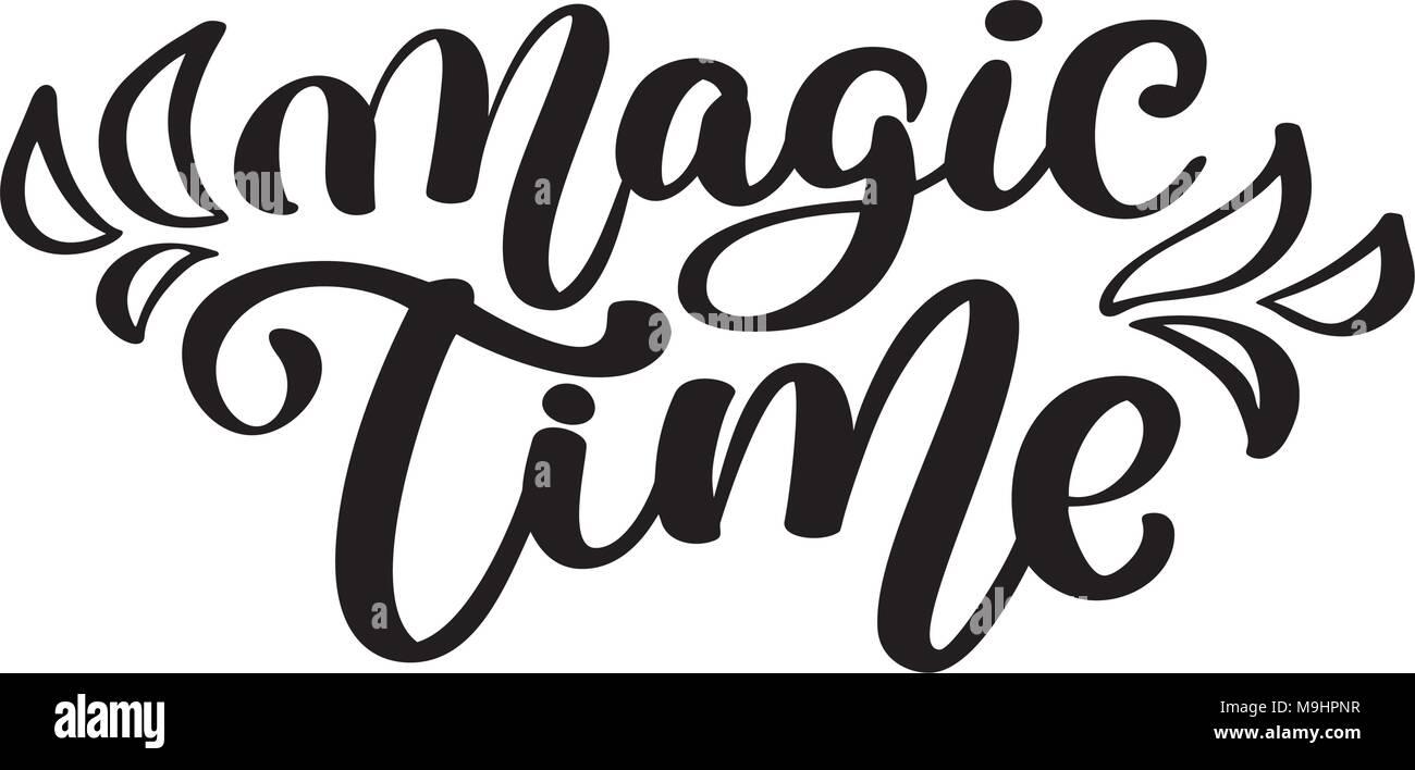 Tiempo De Magia Letras De Caligrafia Artesanal Hand Lettering