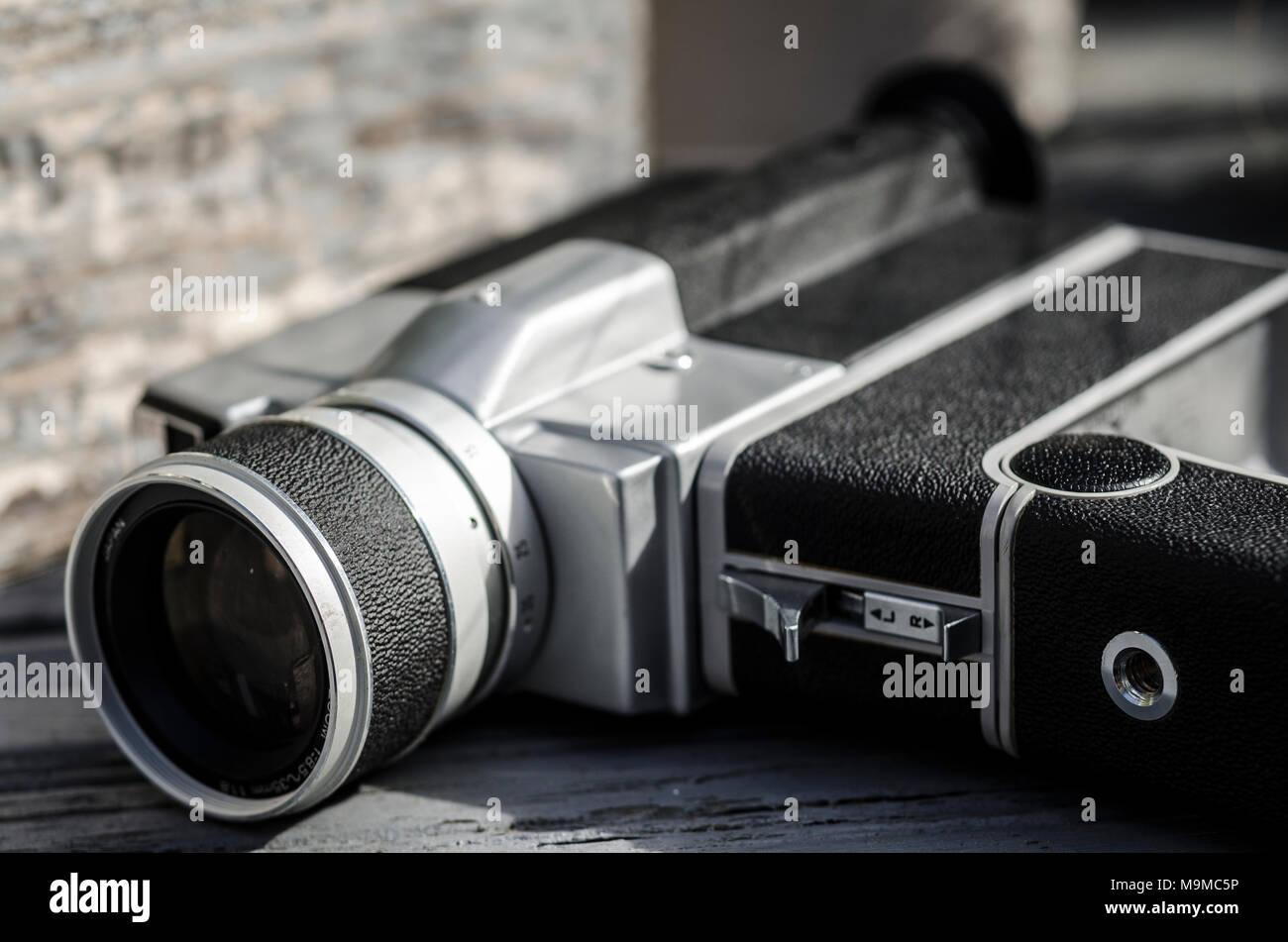 La milbemectina viejo Super 8 cámara de película de cine, la milbemectina Seiki fue fundada en Japón 1946 Imagen De Stock