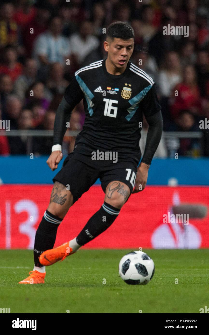 Marcos Rojo (Manchester United) durante el partido amistoso entre ...