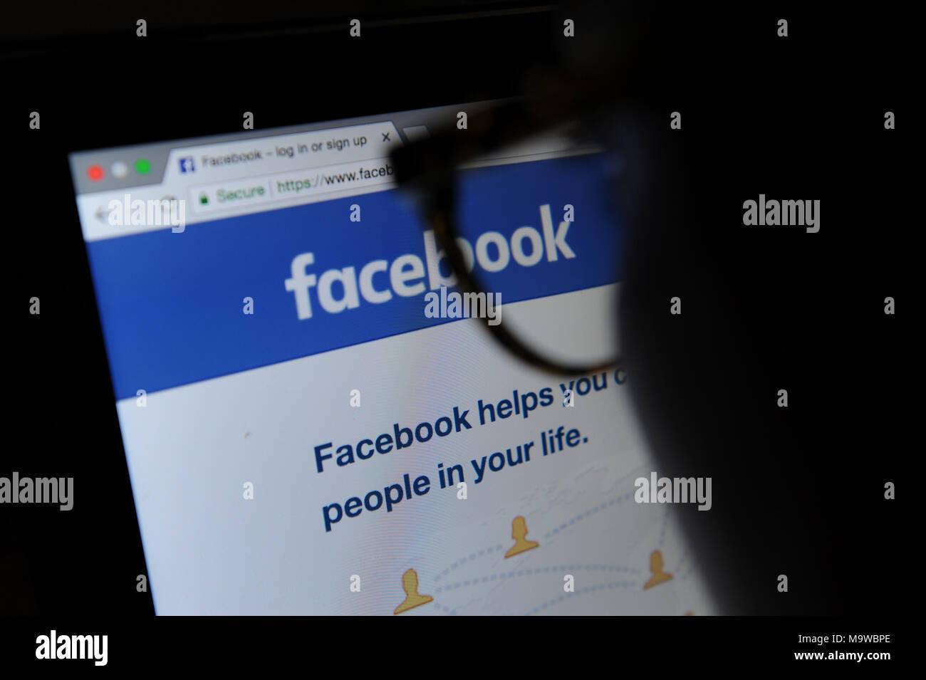 Facebook Imagen De Stock