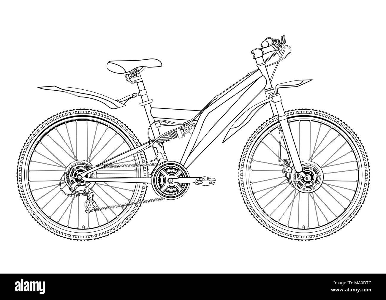 Único Colorear Bicicleta Molde - Ideas Para Colorear ...