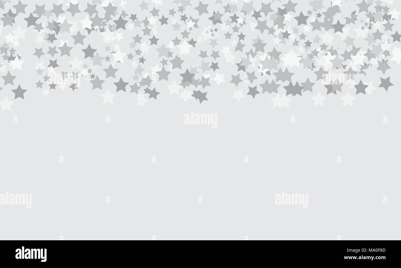 Fondo gris claro con estrellas patrón Imagen De Stock