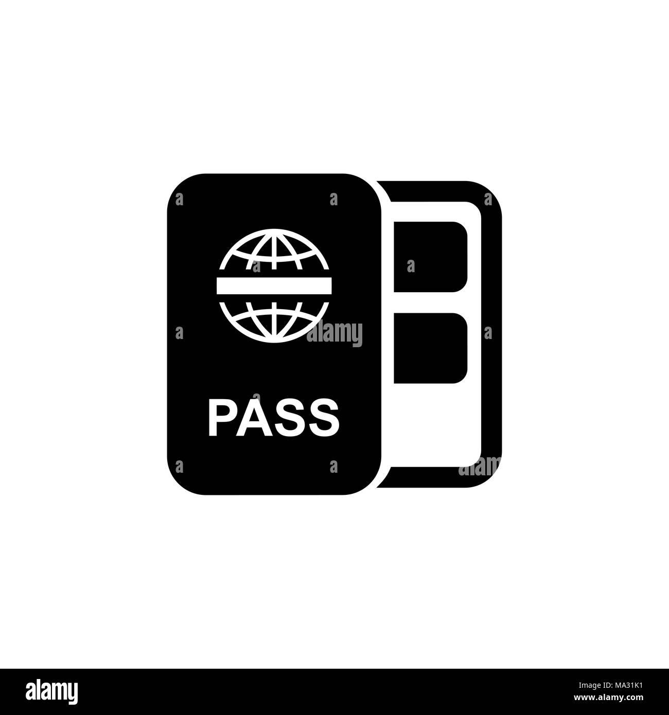 Icono De Pasaporte Tipo Plano Simple Ilustración Vectorial
