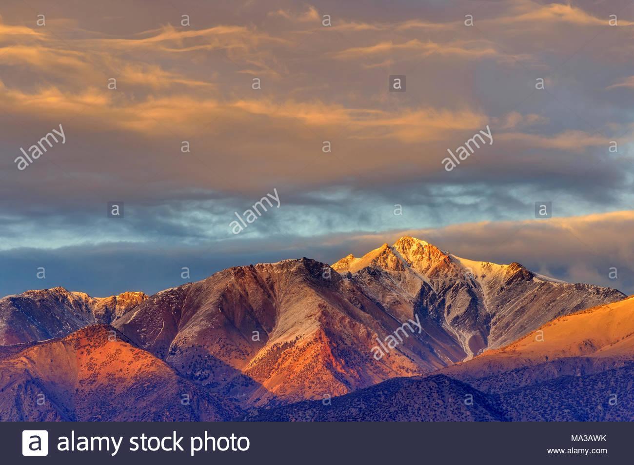La montaña blanca de la meseta volcánica, Inyo National Forest, Inyo County, Caifornia Imagen De Stock