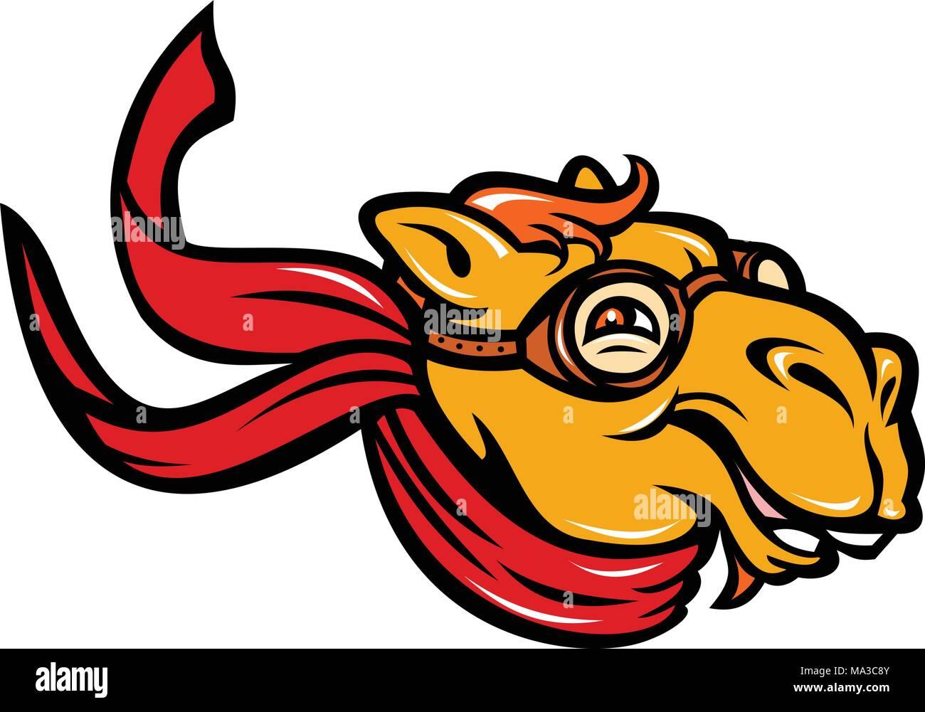 Icono de mascota ilustración de un camello bactriano (Camelus bactrianus)  una gran ed228a693be